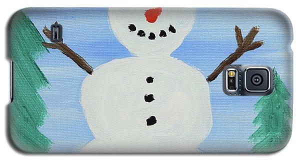 Snowman Galaxy S5 Case by Anthony LaRocca