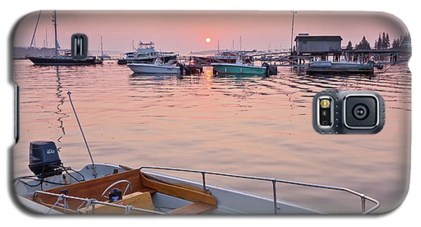 Galaxy S5 Case featuring the photograph Southwest Harbor Sunrise by Susan Cole Kelly