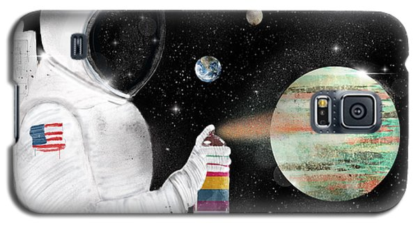 Galaxy S5 Case featuring the painting Space Graffiti by Bri B