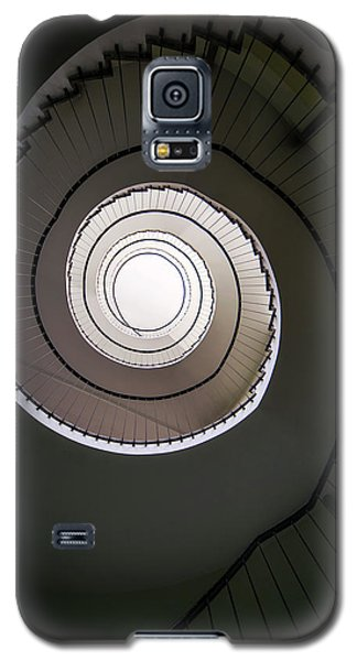 Galaxy S5 Case featuring the photograph Spiral Staircase In Brown Tones by Jaroslaw Blaminsky