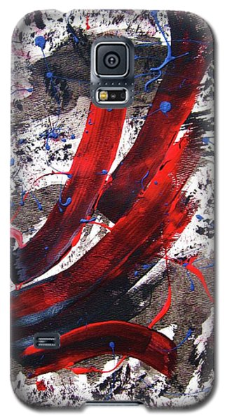 Galaxy S5 Case featuring the painting Splitting The Atom by Roberto Prusso