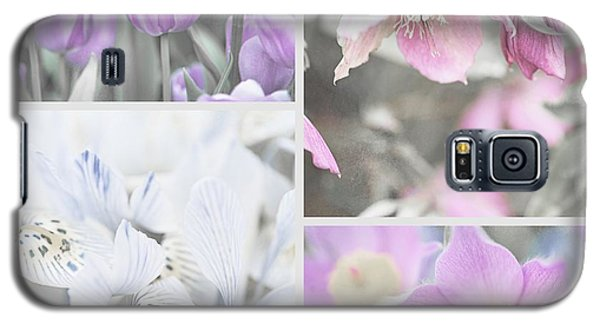 Galaxy S5 Case featuring the photograph Spring Flower Collage. Shabby Chic Collection by Jenny Rainbow