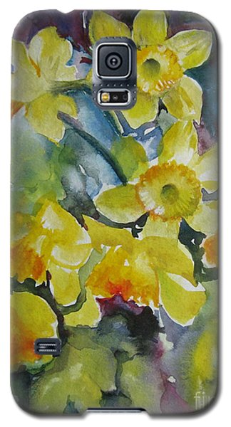 Galaxy S5 Case featuring the painting Spring Flowers by Elena Oleniuc