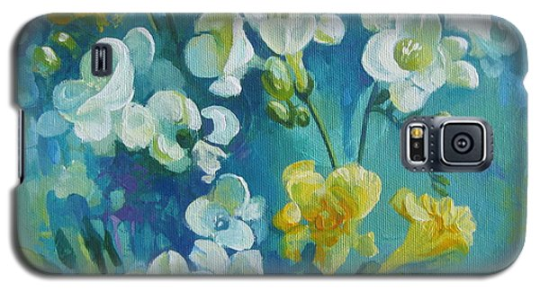 Galaxy S5 Case featuring the painting Spring Fragrances by Elena Oleniuc