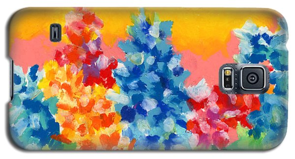 Galaxy S5 Case featuring the painting Spring Wildflowers by Stephen Anderson