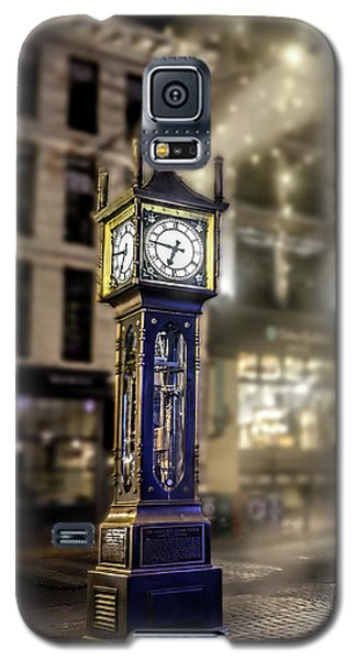 Galaxy S5 Case featuring the photograph Steam Clock by Jim  Hatch