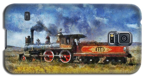 Galaxy S5 Case featuring the photograph Steam Locomotive by Ian Mitchell