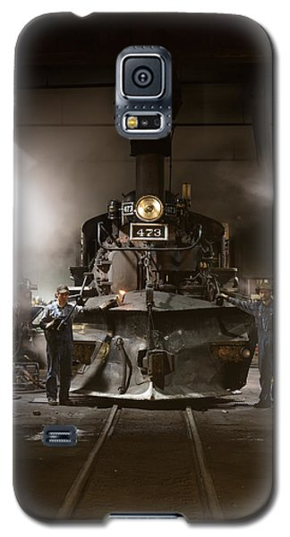 Galaxy S5 Case featuring the photograph Steam Locomotive In The Roundhouse Of The Durango And Silverton Narrow Gauge Railroad In Durango by Carol M Highsmith