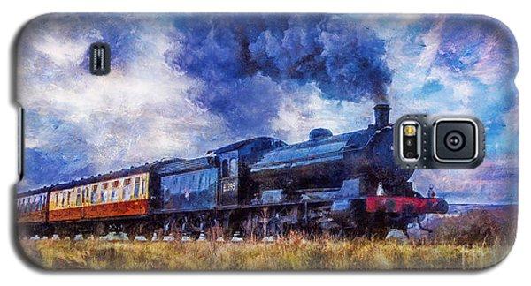 Galaxy S5 Case featuring the digital art Steam Train by Ian Mitchell