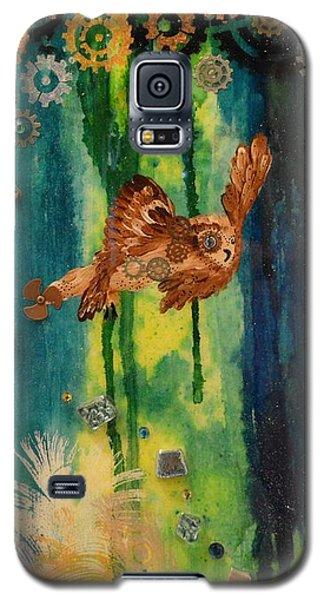 Steampunk Owl Blue Horizon Galaxy S5 Case