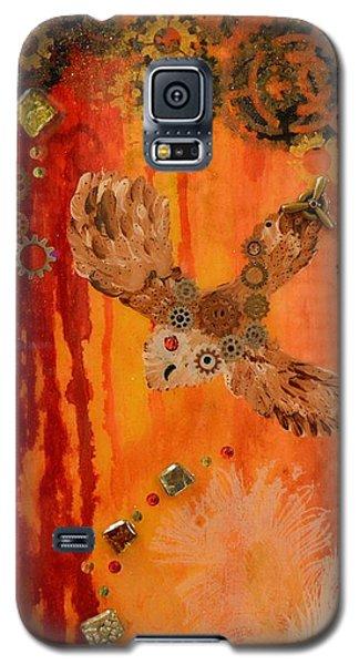 Steampunk Owl Red Horizon Galaxy S5 Case