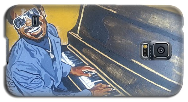 Galaxy S5 Case featuring the painting Stevie Wonder by Rachel Natalie Rawlins