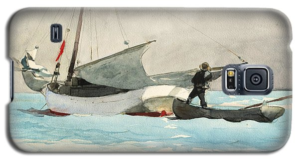 Stowing Sail Galaxy S5 Case by Winslow Homer