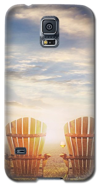 Summer Chairs Sand Dunes And Ocean In Background Galaxy S5 Case