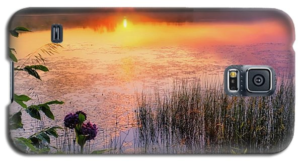Galaxy S5 Case featuring the photograph Summer Sunrise Square by Bill Wakeley