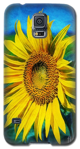 Galaxy S5 Case featuring the digital art Sunflower by Ian Mitchell