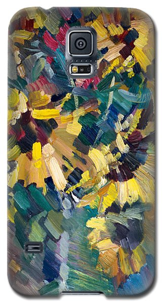 Impressionism Galaxy S5 Case - Sunflowers by Nikolay Malafeev