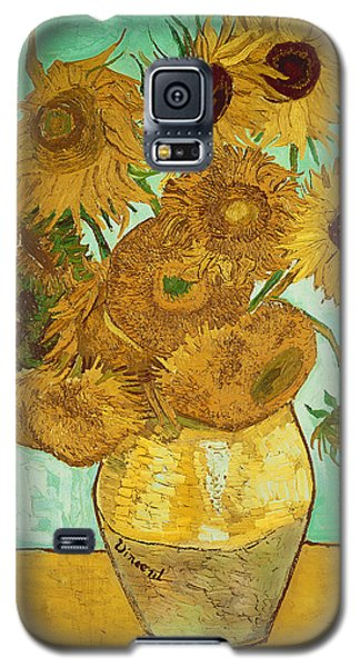 Card Galaxy S5 Case - Sunflowers By Van Gogh by Vincent Van Gogh