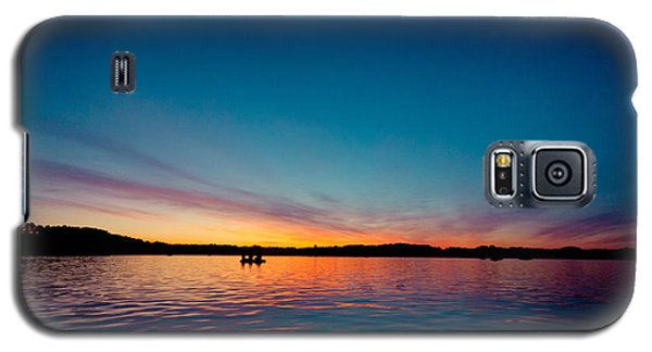 Galaxy S5 Case featuring the photograph Sunrise Above Lake Water Summer Time Latvia Ezera Skanas by Raimond Klavins