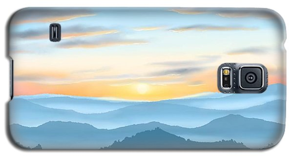 Galaxy S5 Case featuring the painting Sunrise by Veronica Minozzi