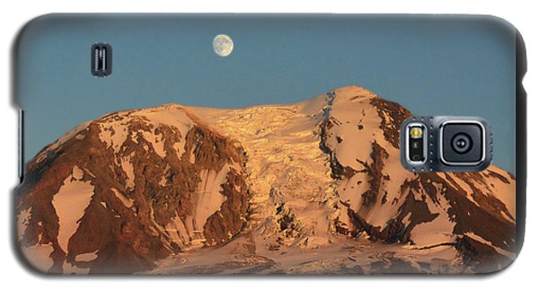 Sunset And Moonrise At Mt Adams Galaxy S5 Case