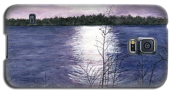 Galaxy S5 Case featuring the painting Sunset At Niagara River New York by Melly Terpening