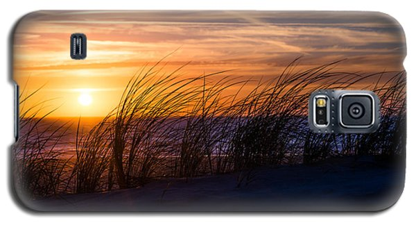 Galaxy S5 Case featuring the photograph sunset at the North Sea by Hannes Cmarits