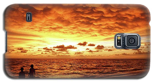 Galaxy S5 Case featuring the photograph Sunset Before The Storm by Melanie Moraga