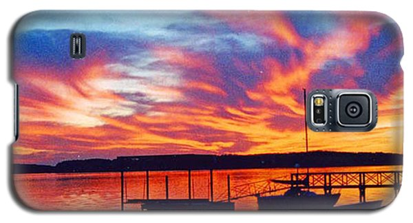 Sunset Over Lake Murray Galaxy S5 Case