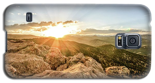 Sunset Over The Mountains Of Flaggstaff Road In Boulder, Colorad Galaxy S5 Case