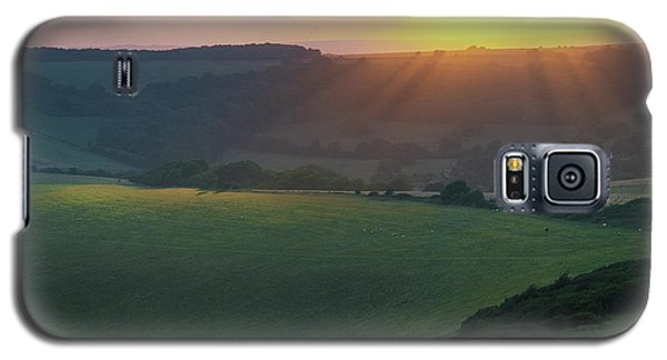 Sunset Over The South Downs Galaxy S5 Case