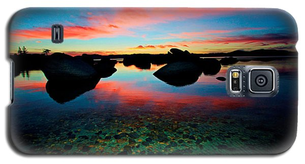 Sunset With A Whale Galaxy S5 Case