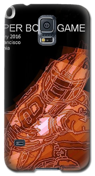 Super Bowl Poster Galaxy S5 Case by Andrew Drozdowicz