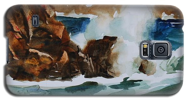 Galaxy S5 Case featuring the painting Surf Study by Len Stomski