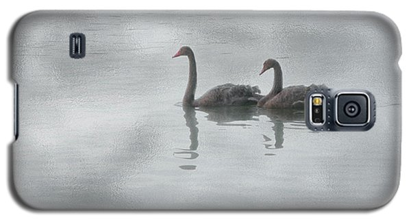 Galaxy S5 Case featuring the photograph Swan Lake by Carolyn Dalessandro