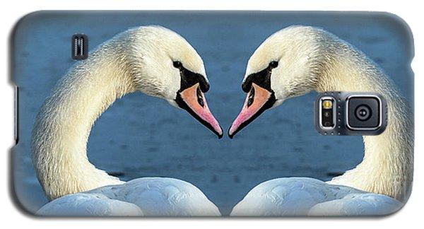 Swans Portrait Galaxy S5 Case