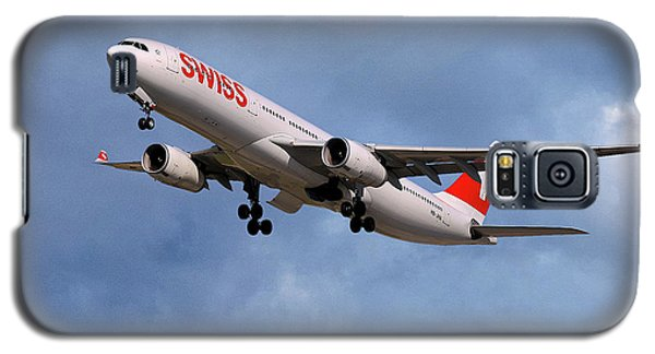 Jet Galaxy S5 Case - Swiss Airbus A330-343 by Smart Aviation
