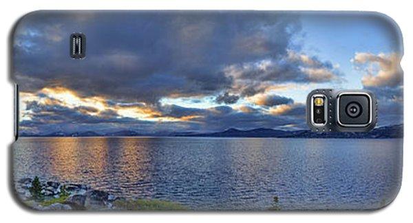 Tahoe Sunset Panorama Galaxy S5 Case