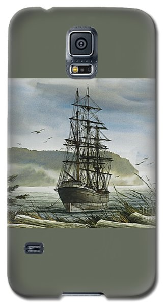 Galaxy S5 Case featuring the painting Tall Ship Cove by James Williamson