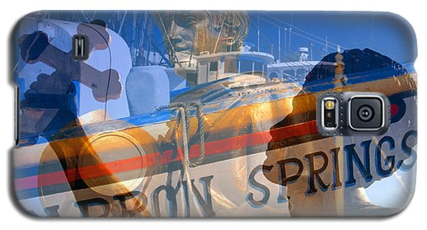 Galaxy S5 Case featuring the photograph Tarpon Springs Florida Mash Up by David Lee Thompson