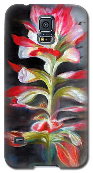 Galaxy S5 Case featuring the pastel Texas Indian Paintbrush by Karen Kennedy Chatham