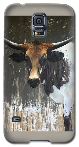 Cow Galaxy S5 Case - Texas Longhorn by Cheryl Green