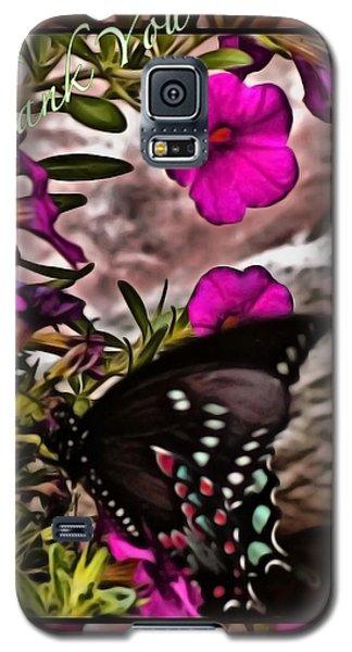 Thank You Card Galaxy S5 Case by Debra     Vatalaro