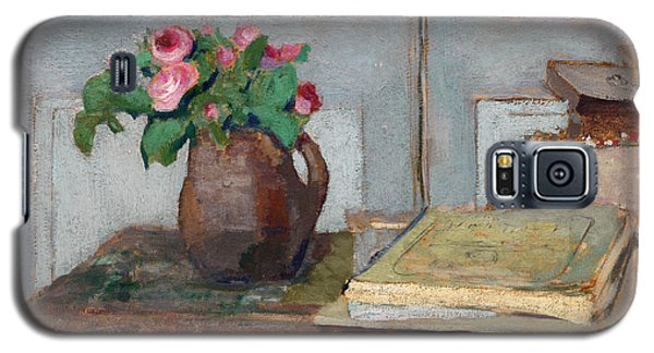 The Artist's Paint Box And Moss Roses Galaxy S5 Case