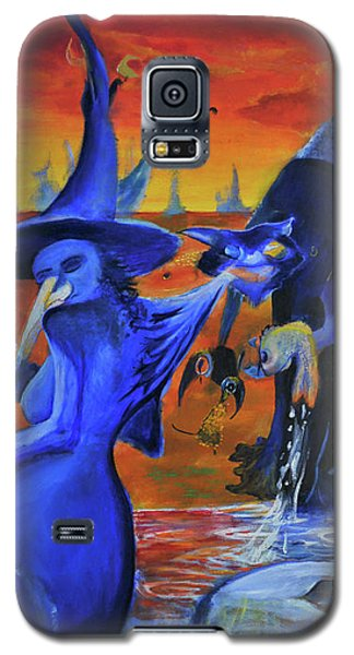 The Cat And The Witch Galaxy S5 Case by Christophe Ennis