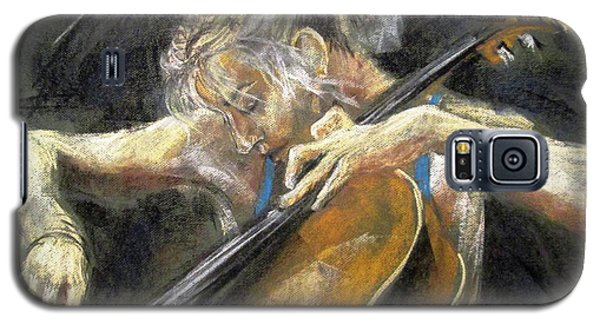 Galaxy S5 Case featuring the painting The Cellist by Debora Cardaci