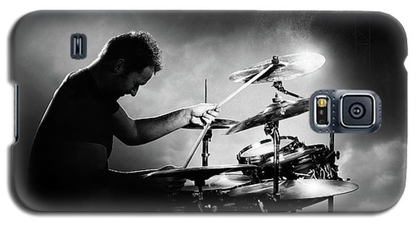 Music Galaxy S5 Case - The Drummer by Johan Swanepoel