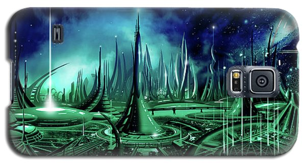 Galaxy S5 Case featuring the painting The Enneanoveum by James Christopher Hill