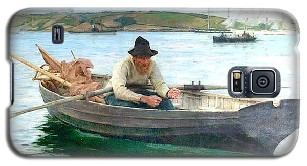 Galaxy S5 Case featuring the painting The Fisherman by Henry Scott Tuke