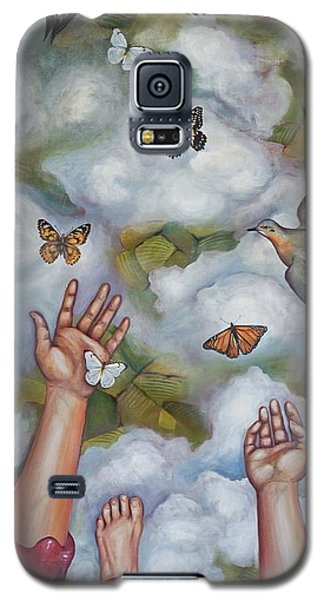Galaxy S5 Case featuring the painting The Gift by Sheri Howe